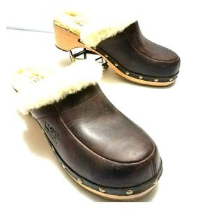 UGG Clogs Brown Leather